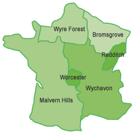 Worcestershire Districts